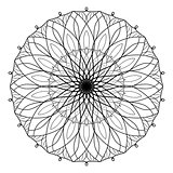 Vector antistress coloring book with geometric mandala. Coloring book for adults.