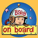 baby on Board astronaut