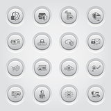 Button Design Protection and Security Icons Set