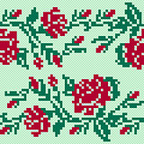 Ethnic Ukrainian Broidery in red and green