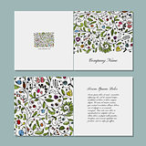 Greeting card, floral design