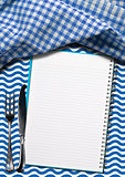 Seafood - Notebook with Blue Waves