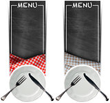 Two Menu Banners with Blackboards
