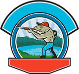 Sea Trout Hunter Shooting Circle Retro