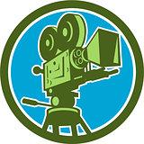 Vintage Film Camera Circle Retro