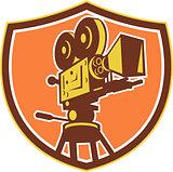 Vintage Film Camera Shield Retro