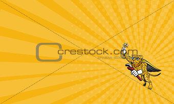Business card Refrigeration Mechanic Leopard Superhero Cartoon