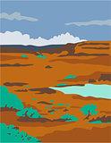 Columbian Basin Desert Scene WPA