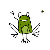 Funny frog, sketch for your design