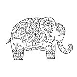 Elephant ornate, sketch for your design