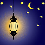 Ramadan Kareem celebration lamp