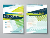 vector abstract low polygon templates for flyer brochure flat de