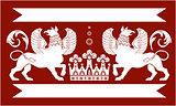 Heraldic Double Griffin