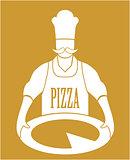 Cook Pizza Vector