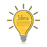 Light Bulb Icon with Idea Concept
