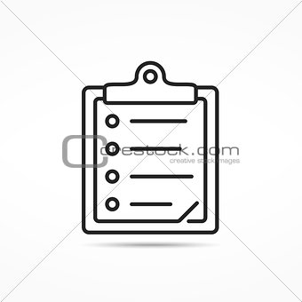 Clipboard Line Icon
