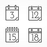 Minimal Calendar Icons