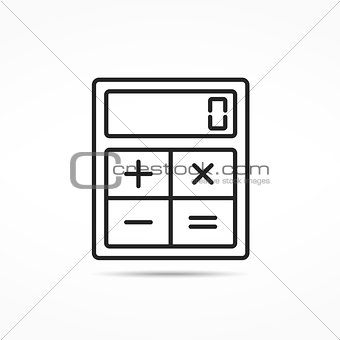 Calculator Line Icon