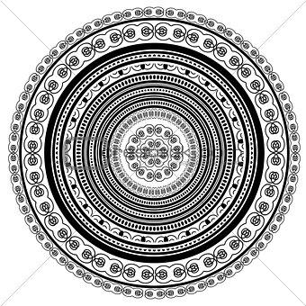 Circle Lace Ornament