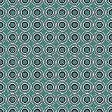 Seamless pattern with abstract circular figures