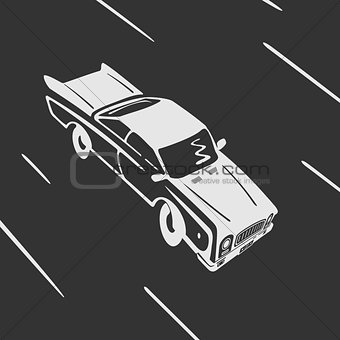 Car goes Vector Symbol