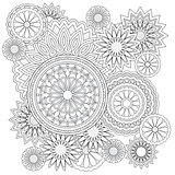 background with  flowers and mandalas