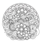 doodle tangle flower and mandalas