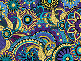 colorful floral background in boho style