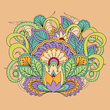 colorful floral image in boho style