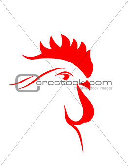 abstract cock 2017 . vector. isolated