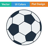 Flat design icon of football ball