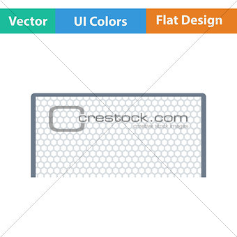 Flat design icon of football gate