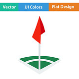 Icon of football field corner flag