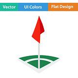 Icon of football field corner flag