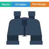 Flat design icon of binoculars