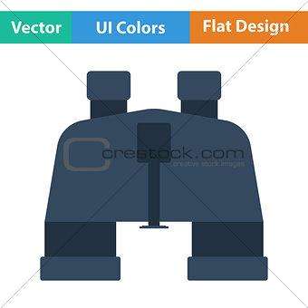 Flat design icon of binoculars