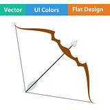 Flat design icon of bow and arrow