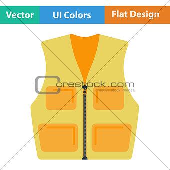 Flat design icon of hunter vest