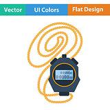 Flat design icon of stopwatch