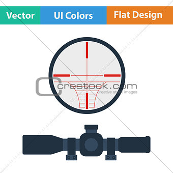 Flat design icon of scope