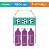 Icon of football field bottle container