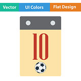Flat design icon of football  calendar