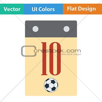 Flat design icon of football  calendar
