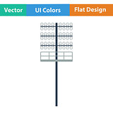 Flat design icon of football  light mast