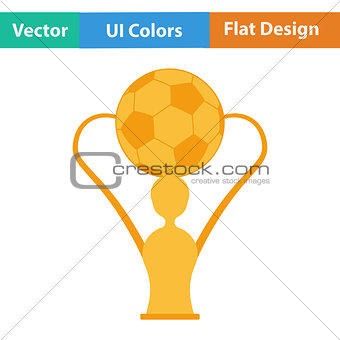 Flat design icon of football cup