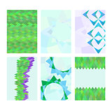 Set of cards with abstract images.
