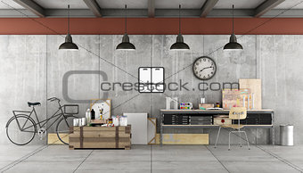 Art workshop in a loft