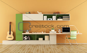 Modern teenage room