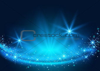 Background with Sparkling Stream Effect