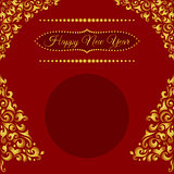 Red Happy New Year poster background